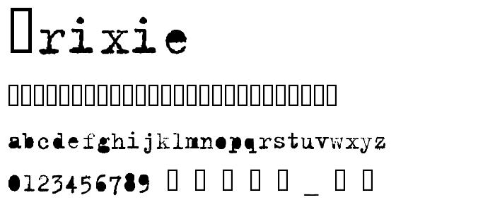 Trixie font