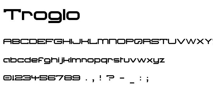 Troglo font