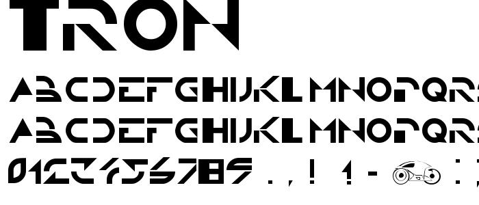TRON.TTF font