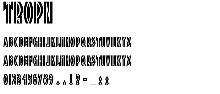TROPN___.TTF font