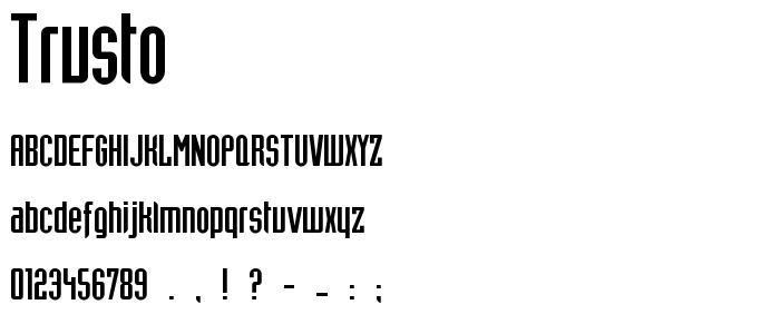 Trusto font