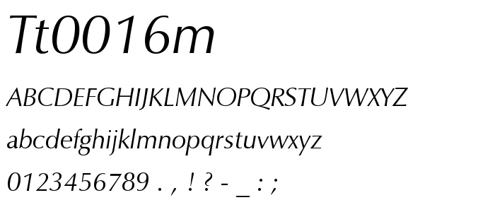 Tt0016m font
