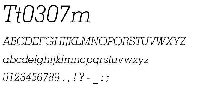 Tt0307m font