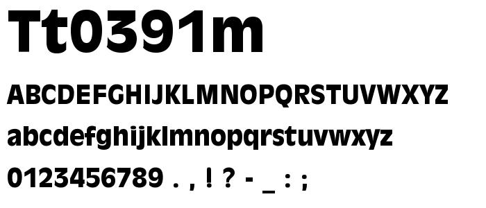 Tt0391m font