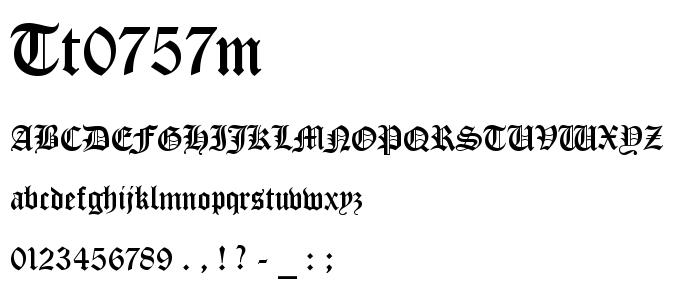 Tt0757m font