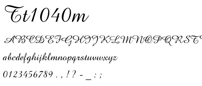 Tt1040m font