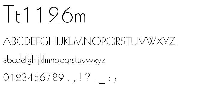 Tt1126m font
