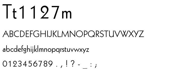 Tt1127m font