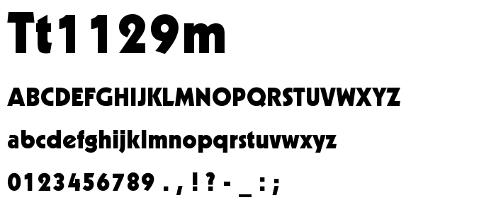Tt1129m font