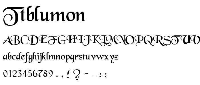 Ttblumon font