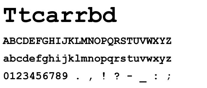 Ttcarrbd font