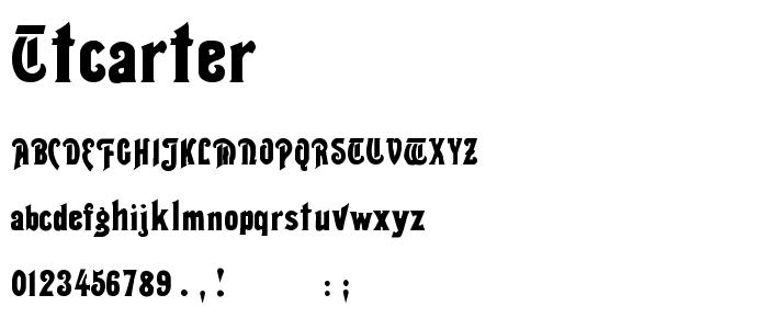 Ttcarter font
