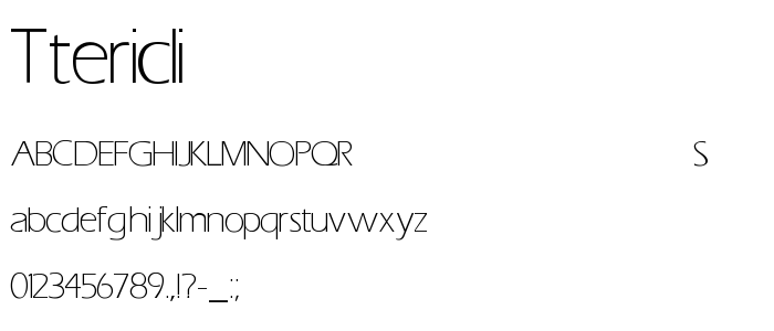 TTERICLI.TTF font