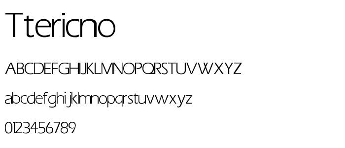 Ttericno font