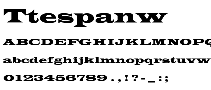 Ttespanw font