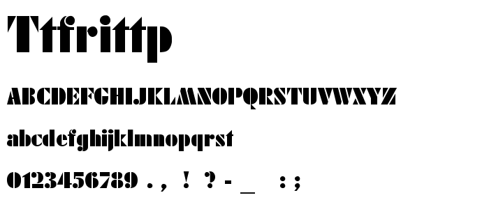 Ttfrittp font
