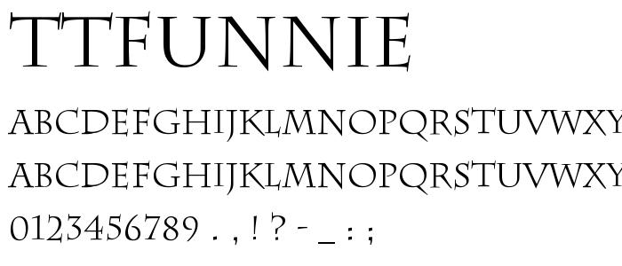 TTFUNNIE.TTF font