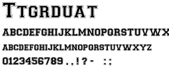 Ttgrduat font