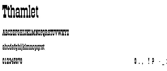 Tthamlet font