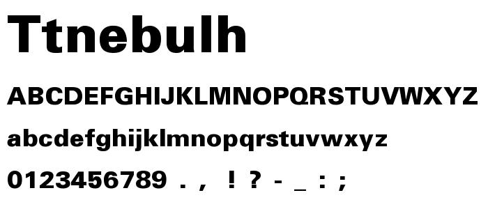 Ttnebulh font