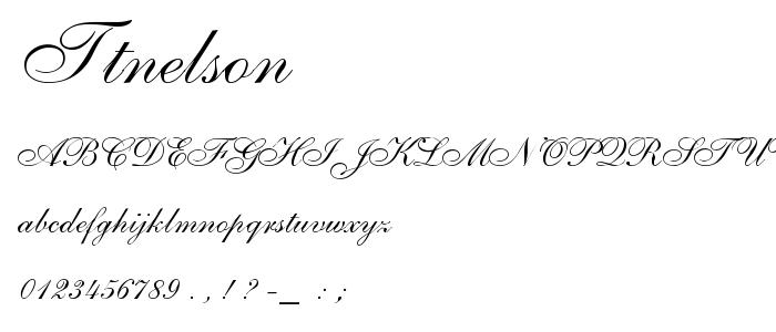 Ttnelson font