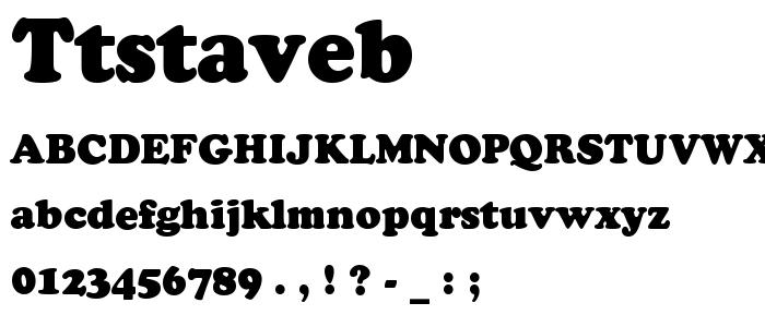 Ttstaveb font