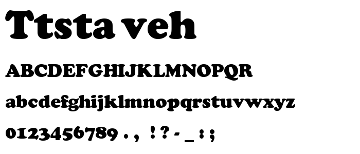 Ttstaveh font