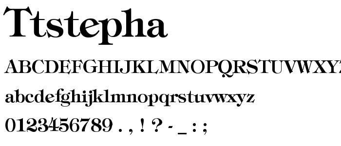 Ttstepha font