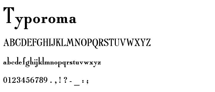 Typoroma font