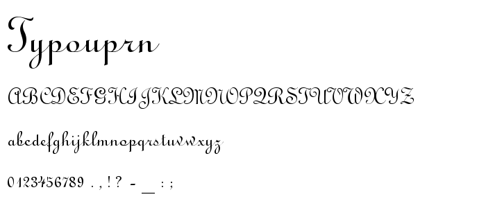 Typouprn font