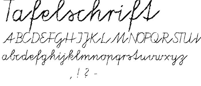 Tafelschrift.ttf font