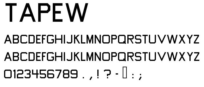 Tapew font