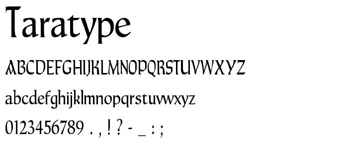 Taratype font