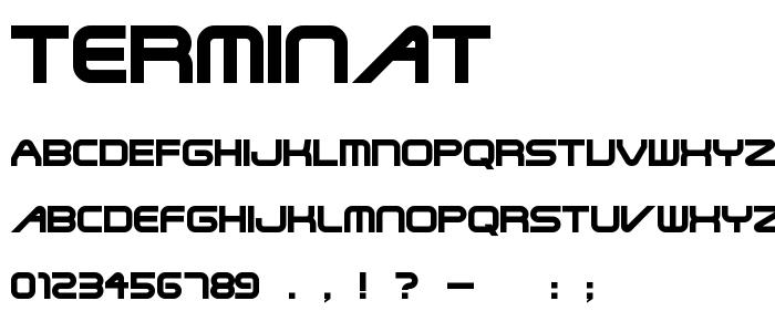 Terminat font