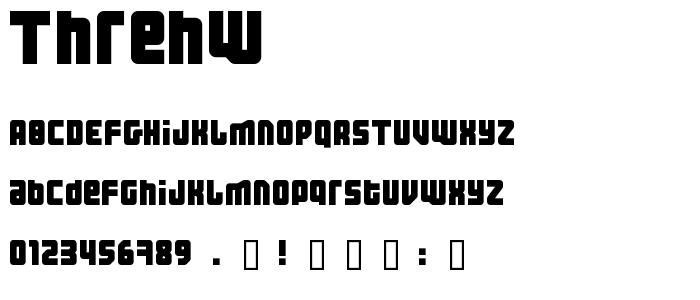 Threhw font