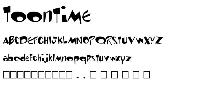 Toontime font