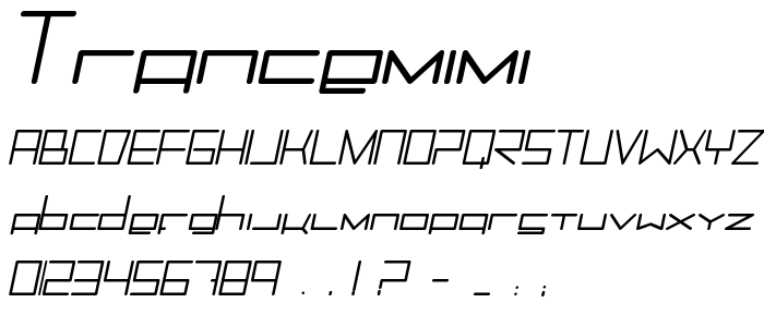 Trancemimi font