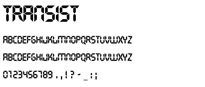 Transist font