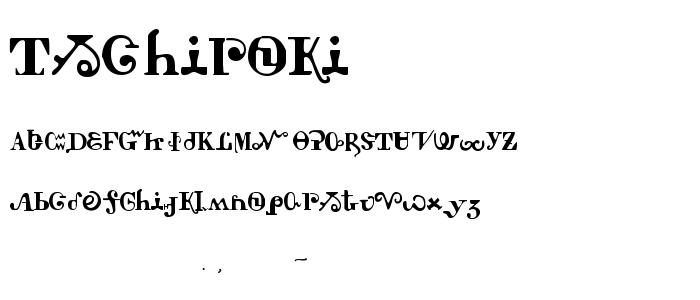 Tschiroki font