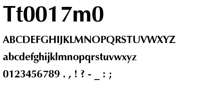 Tt0017m0 font