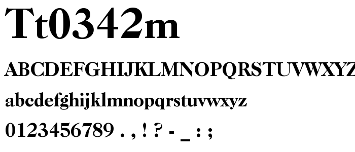 Tt0342m font
