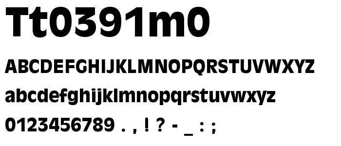 Tt0391m0 font