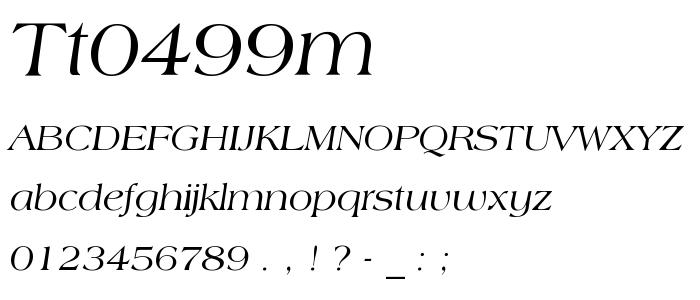 Tt0499m font
