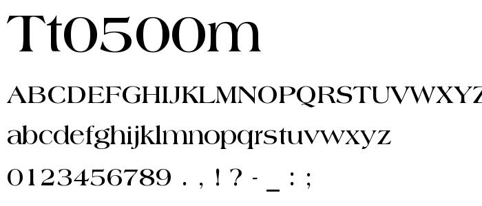 Tt0500m font