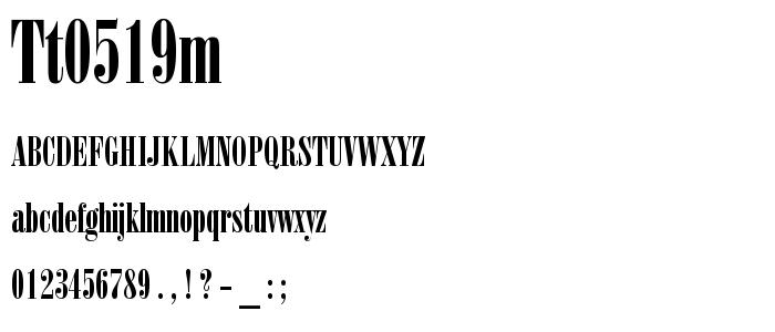 Tt0519m font