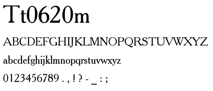 Tt0620m font