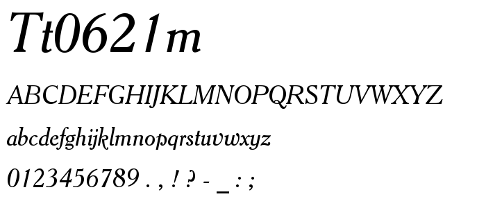 Tt0621m font