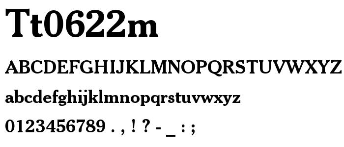 Tt0622m font