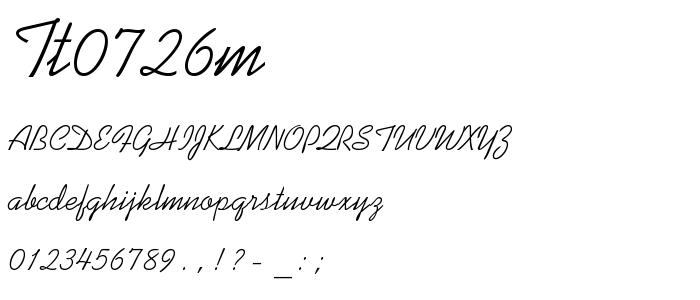 Tt0726m font
