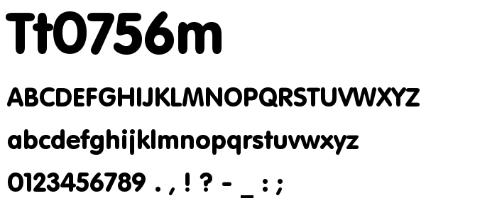 Tt0756m font